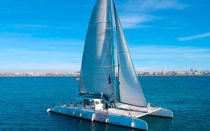 excursion en catamarán a vela Dénia