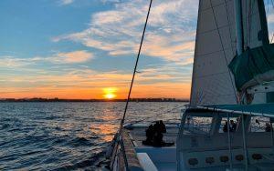 puesta de Sol desde catamarán en Dénia